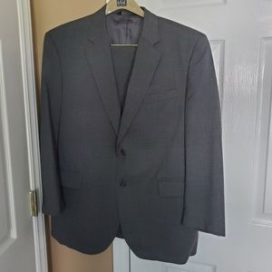 Jos A Bank W 44R gray pant suit jacket sport coat